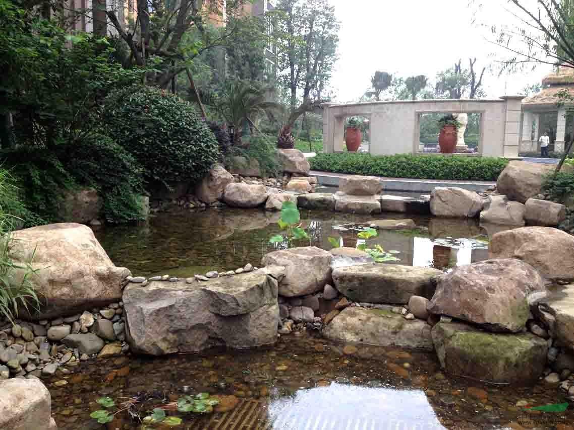 自然石水系造景 - 公司业绩 - 浙江桐庐绿通景观工程
